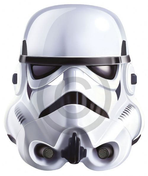 Stormtrooper Card Face Mask Star Wars Villian Party Decoration